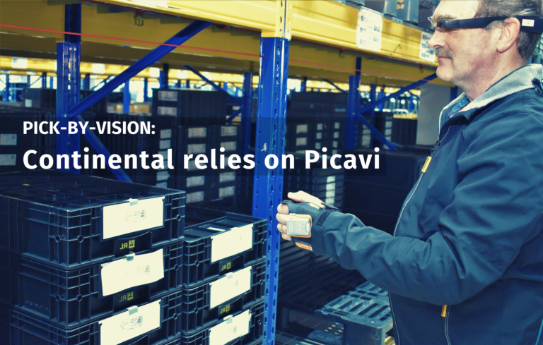 Warehouse worker at Continental using Picavi Pick by Vision