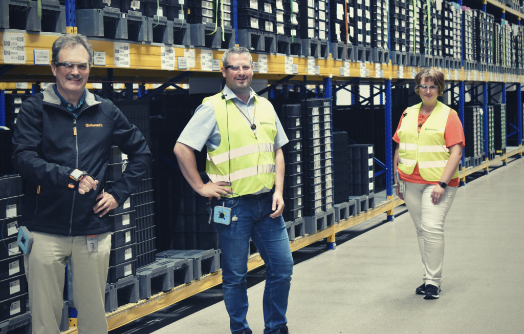 Continental Workers with Picavi Pick by Vision systems